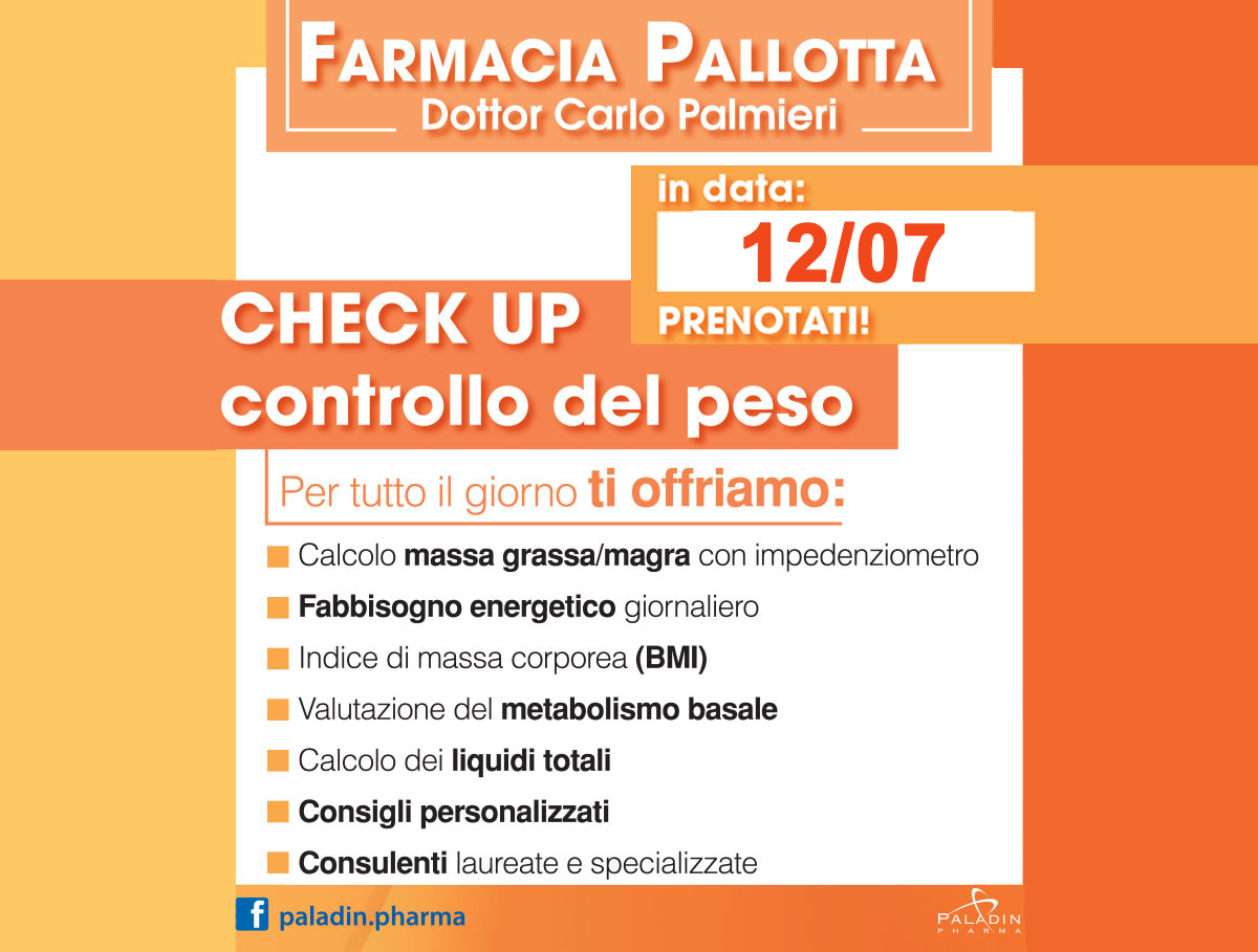 CHECK UP CONTROLLO DEL PESO
