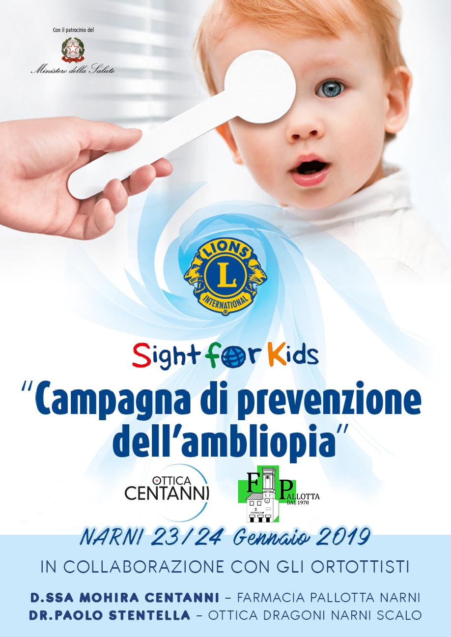 Campagna di prevenzione dell'ambliopia
